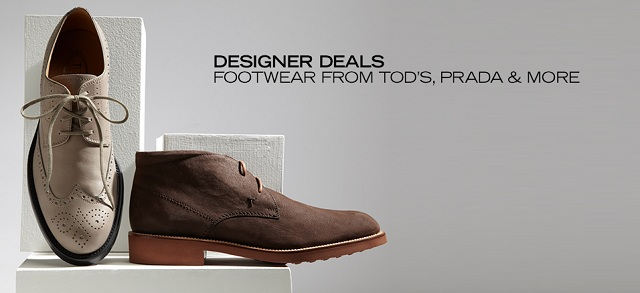 Designer Deals Footwear from Tod's, PRADA & More at MYHABIT