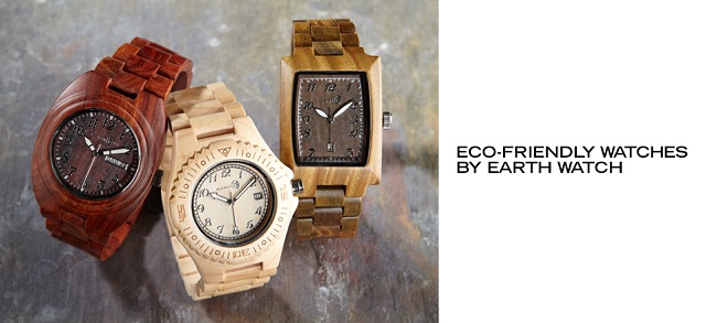 Eco-Friendly Watches by Earth Watch at MYHABIT