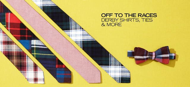 Off to the Races Derby Shirts, Ties & More at MYHABIT