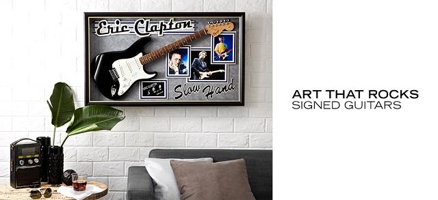 Art That Rocks Signed Guitars at MYHABIT