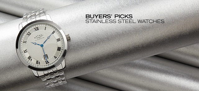 Buyers' Picks Stainless Steel Watches at MYHABIT