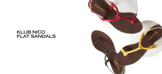 Klub Nico Flat Sandals at MYHABIT