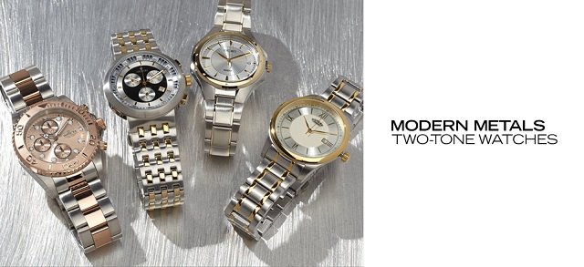 Modern Metals Two-Tone Watches at MYHABIT