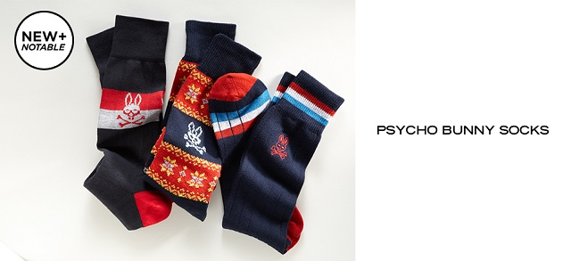 New + Notable Psycho Bunny Socks at MYHABIT