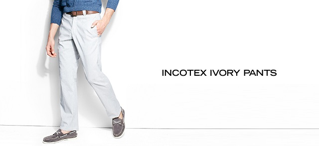 Incotex Ivory Pants at MYHABIT