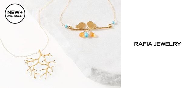 New + Notable Rafia Jewelry at MYHABIT