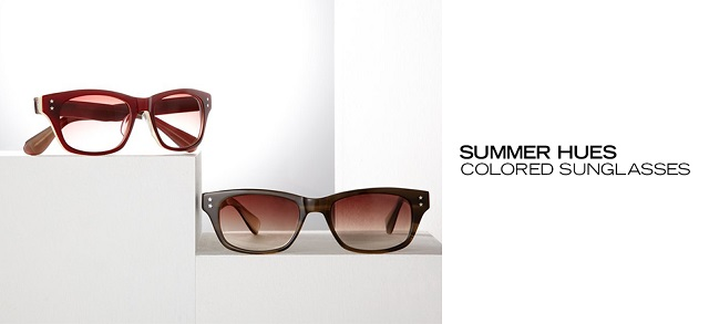 Summer Hues Colored Sunglasses at MYHABIT