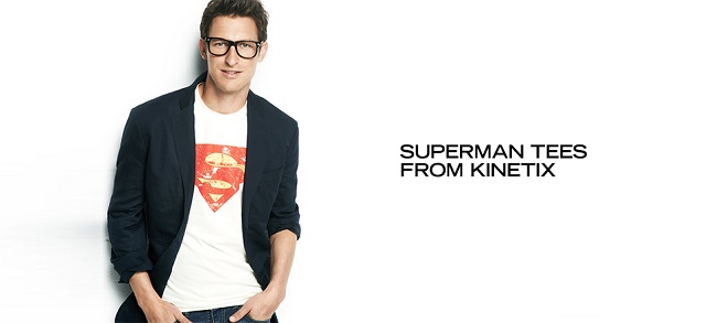 Superman Tees from Kinetix at MYHABIT