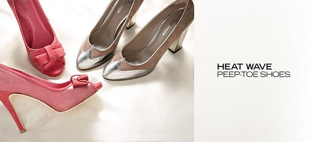 Heat Wave Peep-Toe Shoes at MYHABIT