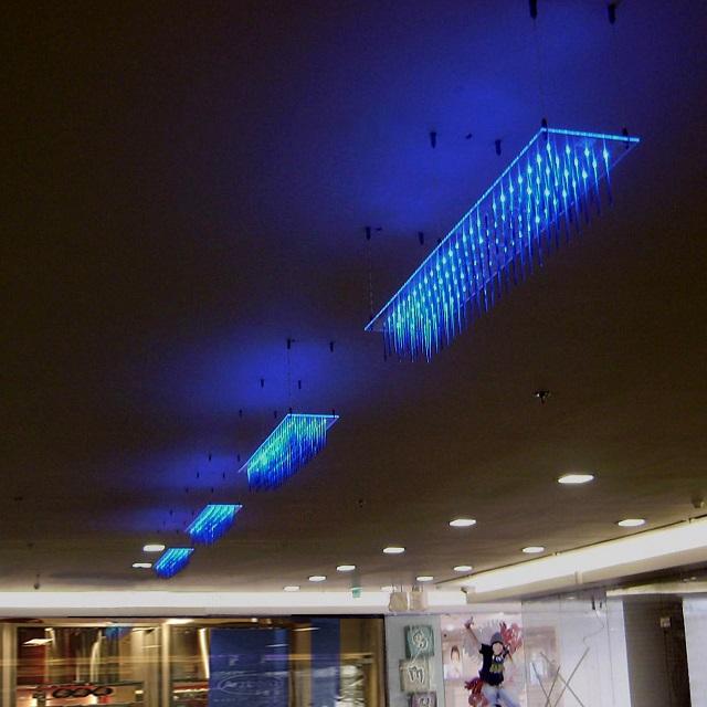 Puff Buff Blue Glass Hanging Lamp_2