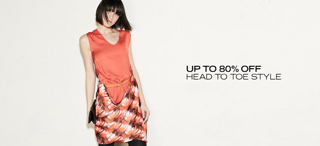 Up to 80 Off Head to Toe Style at MYHABIT