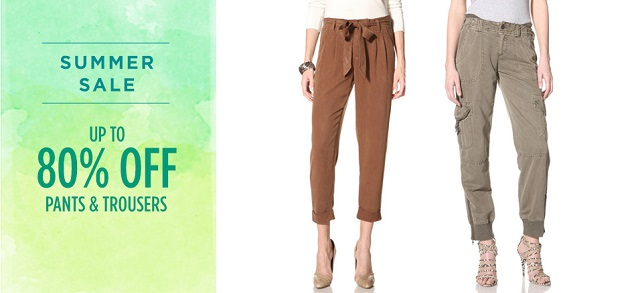 Up to 80 Off Pants & Trousers at MYHABIT