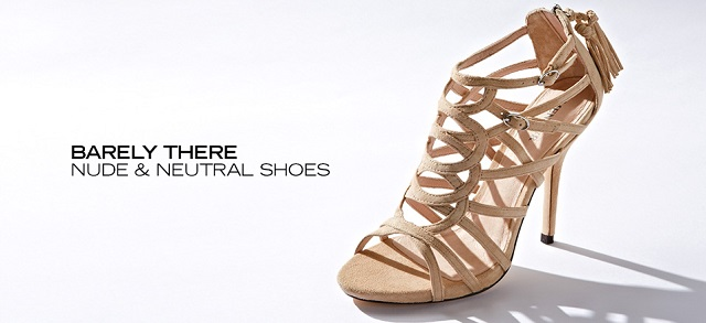 Barely There Nude & Neutral Shoes at MYHABIT