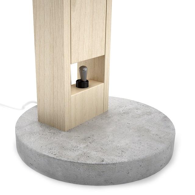 DIME design Wood and Concrete Lamp_4