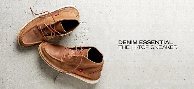Denim Essential The Hi-Top Sneaker at MYHABIT