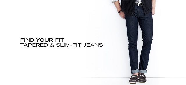 Find Your Fit Tapered & Slim-Fit Jeans at MYHABIT