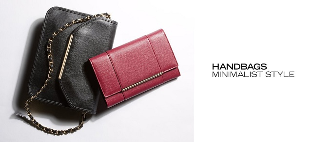 Handbags Minimalist Style at MYHABIT