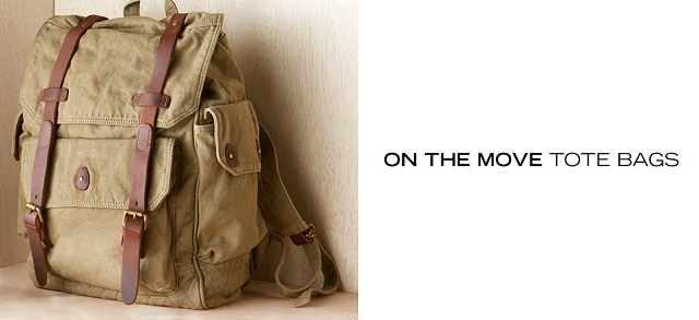 On the Move Tote Bags at MYHABIT