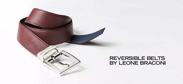 Reversible Belts by Leone Braconi at MYHABIT