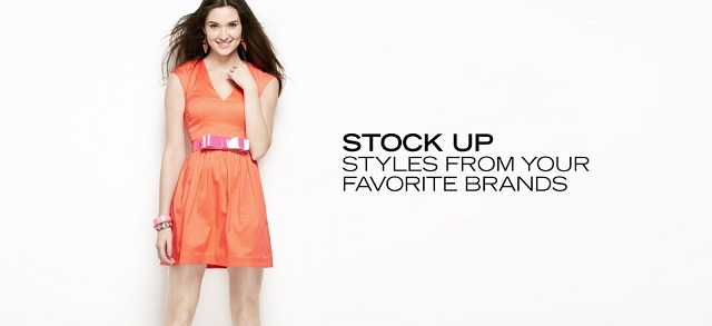 Stock Up Styles from Your Favorite Brands at MYHABIT