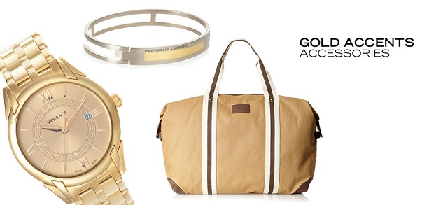 Gold Accents Accessories at MYHABIT