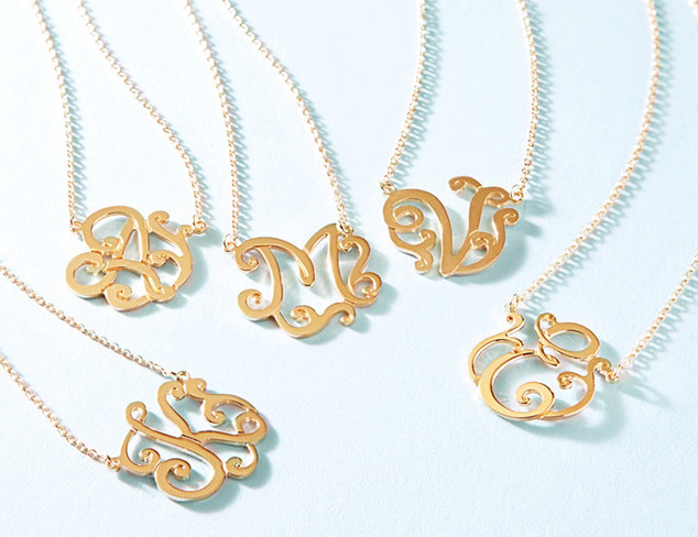 It's Personal 18K Gold-Plated Initial Necklace