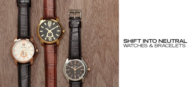Shift Into Neutral Watches & Bracelets at MYHABIT