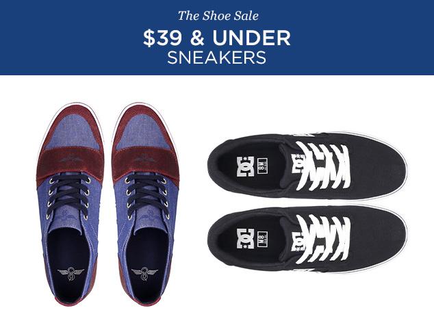 $39 & Under Sneakers at MYHABIT