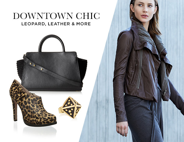 Downtown Chic Leopard, Leather & More at MYHABIT