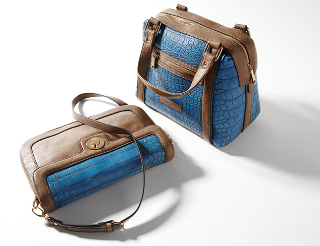 Exotic Texture Croc-Embossed Bags at MYHABIT