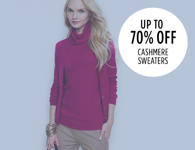 Up to 70 Off Cashmere Sweaters at MYHABIT