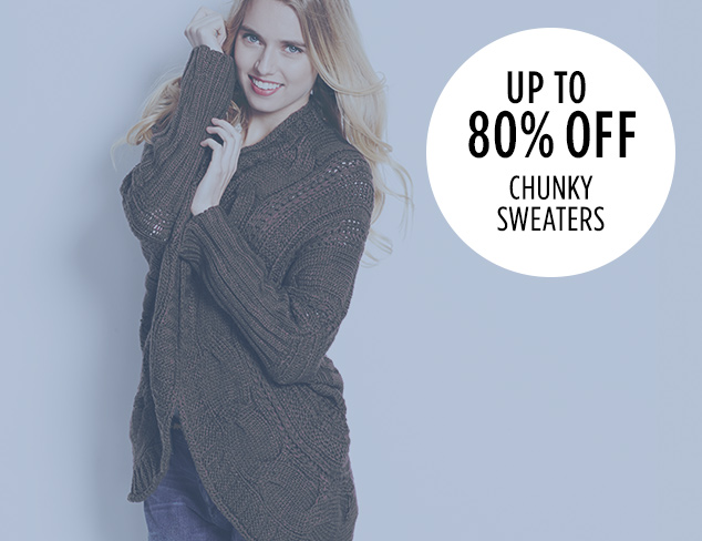 Up to 80 Off Chunky Sweaters at MYHABIT