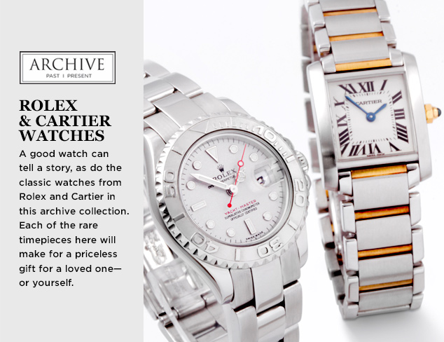 ARCHIVE Rolex & Cartier Watches at MYHABIT