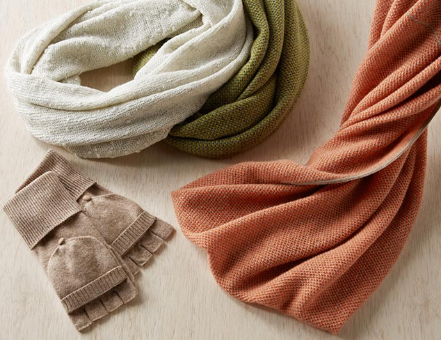 Cozy Up Cashmere & Wool Accessories at MYHABIT