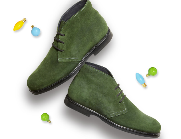The Generic Man Florentine Suede Chukka Boots