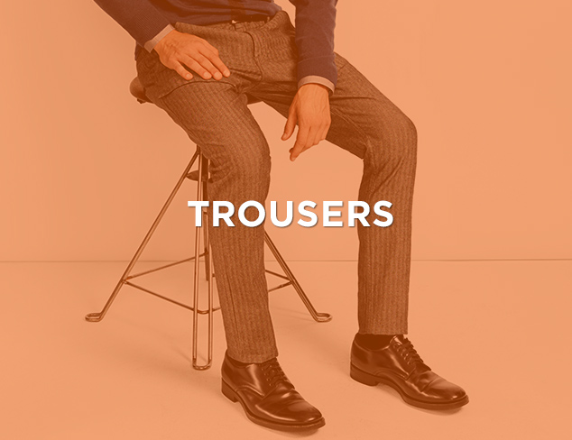 Up to 80 Off Trousers at MYHABIT