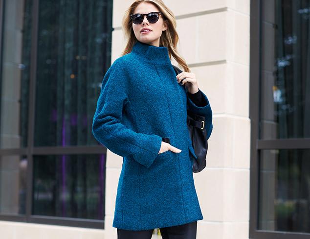 Winter Blues  Bright & Cheery Coats at MYHABIT