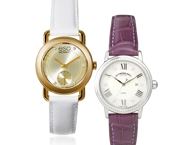 On-Time Style Leather Watches at MYHABIT