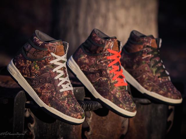 Packer Shoes x Saucony Woodland Camo Hangtime Hi
