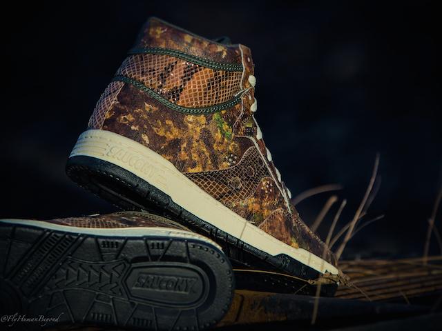 Packer Shoes x Saucony Woodland Camo Hangtime Hi_7