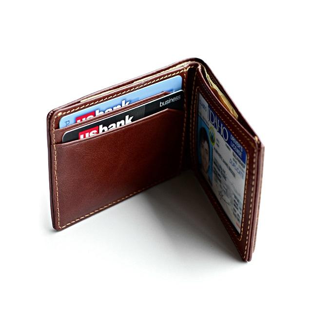 Slim Timber Walnut Wood Bifold Wallet_5