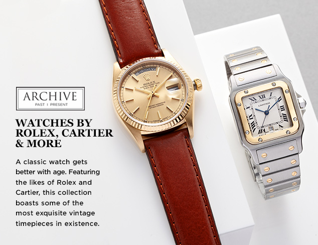 ARCHIVE Watches by Rolex, Cartier & More at MYHABIT