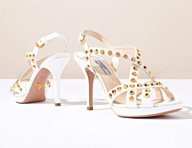 Prada Studded Strappy Sandals