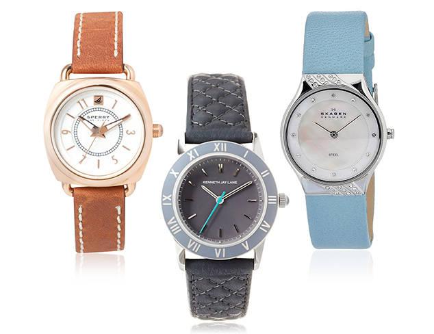 Classic Fashion Leather Band Watches at MYHABIT