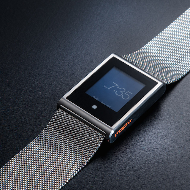 Phosphor Touch Time in Black on Mesh Band