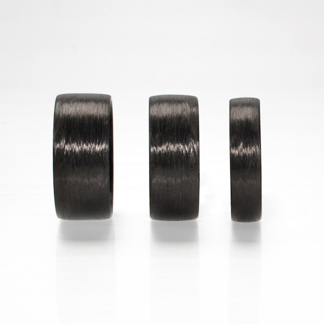 REFRACTORY Carbon Fiber Rings in Linear Grain