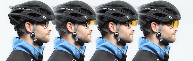 Dux Helm Premium Retractable Lens Cycling Helmet in Carbon Sliver_3