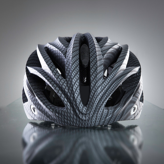 Dux Helm Premium Retractable Lens Cycling Helmet in Carbon Sliver_4