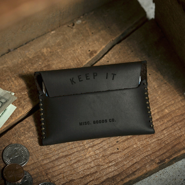 Misc. Goods Co. Keep It/Lose It Leather Wallet
