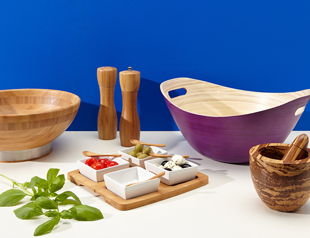 Core Bamboo Perfectly Squared 4-Part Entertainment Set